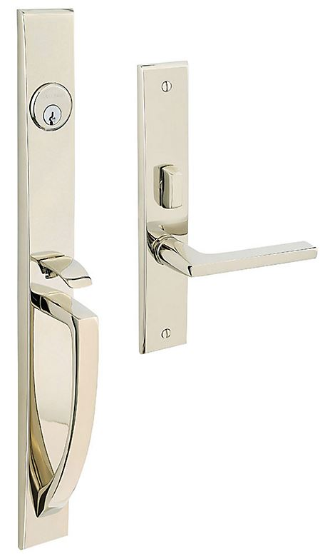 Mortise Lock Life-Time Polished Nickel Entry set