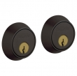 Baldwin<br />8011.102 - CONTEMPORARY DOUBLE CYLINDER DEADBOLT FOR 1 5/8&quot; DOOR PREP - OIL RUBBED BRONZE