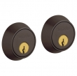 Baldwin<br />8011.112 - CONTEMPORARY DOUBLE CYLINDER DEADBOLT FOR 1 5/8&quot; DOOR PREP - VENETIAN BRONZE