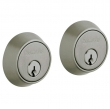 Baldwin<br />8011.151 - CONTEMPORARY DOUBLE CYLINDER DEADBOLT FOR 1 5/8&quot; DOOR PREP - ANTIQUE NICKEL