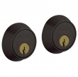 Baldwin<br />8011.402 - CONTEMPORARY DOUBLE CYLINDER DEADBOLT FOR 1 5/8&quot; DOOR PREP - DISTRESSED OIL RUBBED BRONZE