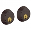 Baldwin<br />8011.412 - CONTEMPORARY DOUBLE CYLINDER DEADBOLT FOR 1 5/8&quot; DOOR PREP - DISTRESSED VENETIAN BRONZE
