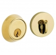 Baldwin<br />8041.031 - CONTEMPORARY DEADBOLT FOR 1 5/8&quot; DOOR PREP - NON-LACQUERED BRASS