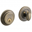 "TRADITIONAL DEADBOLT FOR 2 1/8"" DOOR PREP - SATIN BRASS AND BLACK"