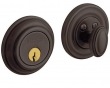 Baldwin<br />8231.112 Single Cylinder Deadbolt IN STOCK  - Traditional Deadbolt Venetian Bronze