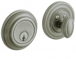 Baldwin<br />8231.151 Single Cylinder Deadbolt IN STOCK  - Traditional Deadbolt Antique Nickel