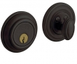 Baldwin<br />8231.402 Single Cylinder Deadbolt IN STOCK  - Traditional Deadbolt Distressed Oil Rubbed Bronze