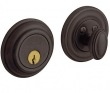 Baldwin<br />8231.412 Single Cylinder Deadbolt IN STOCK  - Traditional Deadbolt Distressed Venetian Bronze