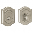 Baldwin<br />8237.056 - BETHPAGE DEADBOLT FOR 2 1/8&quot; DOOR PREP - LIFETIME SATIN NICKEL