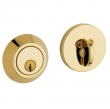 Baldwin<br />8241.031 - CONTEMPORARY DEADBOLT FOR 2 1/8&quot; DOOR PREP - NON-LACQUERED BRASS