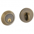 Baldwin<br />8241.050 - CONTEMPORARY DEADBOLT FOR 2 1/8&quot; DOOR PREP - SATIN BRASS AND BLACK