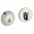 Baldwin<br />8241.055 - CONTEMPORARY DEADBOLT FOR 2 1/8&quot; DOOR PREP - LIFETIME POLISHED NICKEL