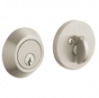 Baldwin<br />8241.056 - CONTEMPORARY DEADBOLT FOR 2 1/8&quot; DOOR PREP - LIFETIME SATIN NICKEL