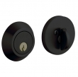 Baldwin<br />8241.190 - CONTEMPORARY DEADBOLT FOR 2 1/8&quot; DOOR PREP - SATIN BLACK