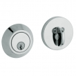 Baldwin<br />8241.260 - CONTEMPORARY DEADBOLT FOR 2 1/8&quot; DOOR PREP - POLISHED CHROME