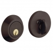 Baldwin<br />8241.412 - CONTEMPORARY DEADBOLT FOR 2 1/8&quot; DOOR PREP - DISTRESSED VENETIAN BRONZE