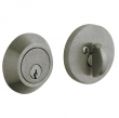 Baldwin<br />8241.452 - CONTEMPORARY DEADBOLT FOR 2 1/8&quot; DOOR PREP - DISTRESSED ANTIQUE NICKEL