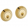 Baldwin<br />8242.031 - CONTEMPORARY DOUBLE CYLINDER DEADBOLT FOR 2 1/8&quot; DOOR PREP - NON-LACQUERED BRASS
