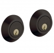 Baldwin<br />8242.102 - CONTEMPORARY DOUBLE CYLINDER DEADBOLT FOR 2 1/8&quot; DOOR PREP - OIL RUBBED BRONZE