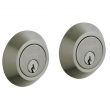 Baldwin<br />8242.151 - CONTEMPORARY DOUBLE CYLINDER DEADBOLT FOR 2 1/8&quot; DOOR PREP - ANTIQUE NICKEL