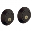 Baldwin<br />8242.402 - CONTEMPORARY DOUBLE CYLINDER DEADBOLT FOR 2 1/8&quot; DOOR PREP - DISTRESSED OIL RUBBED BRONZE