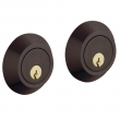 Baldwin<br />8242.412 - CONTEMPORARY DOUBLE CYLINDER DEADBOLT FOR 2 1/8&quot; DOOR PREP - DISTRESSED VENETIAN BRONZE