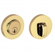 Baldwin<br />8244.003 - CONTEMPORARY DEADBOLT FOR 2 1/8&quot; DOOR PREP - LIFETIME POLISHED BRASS