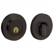 Baldwin<br />8244.102 - CONTEMPORARY DEADBOLT FOR 2 1/8&quot; DOOR PREP - OIL RUBBED BRONZE