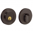 Baldwin<br />8244.112 - CONTEMPORARY DEADBOLT FOR 2 1/8&quot; DOOR PREP - VENETIAN BRONZE