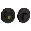 Baldwin<br />8244.190 - CONTEMPORARY DEADBOLT FOR 2 1/8&quot; DOOR PREP - SATIN BLACK