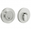 Baldwin<br />8244.264 - CONTEMPORARY DEADBOLT FOR 2 1/8&quot; DOOR PREP - SATIN CHROME