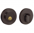 Baldwin<br />8244.412 - CONTEMPORARY DEADBOLT FOR 2 1/8&quot; DOOR PREP - DISTRESSED VENETIAN BRONZE