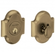 Baldwin<br />8252.050 - ARCHED DEADBOLT FOR 2 1/8&quot; DOOR PREP - SATIN BRASS AND BLACK