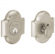 Baldwin<br />8252.056 - ARCHED DEADBOLT FOR 2 1/8&quot; DOOR PREP - LIFETIME SATIN NICKEL
