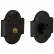 Baldwin<br />8252.190 - ARCHED DEADBOLT FOR 2 1/8&quot; DOOR PREP - SATIN BLACK