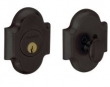 Baldwin<br />8252.402 Single Cylinder Deadbolt IN-STOCK - ARCHED DEADBOLT FOR 2 1/8&quot; DOOR PREP - DISTRESSED OIL RUBBED BRONZE