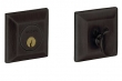 Baldwin<br />8254.402 Single Cylinder Deadbolt IN STOCK  - Squared Deadbolt Distressed Oil Rubbed Bronze