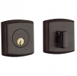 Baldwin<br />8285.412 - SOHO DEADBOLT FOR 2 1/8&quot; DOOR PREP - DISTRESSED VENETIAN BRONZE
