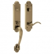 Baldwin<br />85354.050 - BOULDER 3/4 EMERGENCY EGRESS HANDLESET - SATIN BRASS AND BLACK