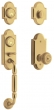 Baldwin<br />85365.031 - ASHTON TWO-POINT HANDLESET - NON-LACQUERED BRASS