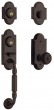 Baldwin<br />85365.412 - ASHTON TWO-POINT HANDLESET - DISTRESSED VENETIAN BRONZE