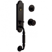 Baldwin - NANTUCKET HANDLESET TRIM - OIL RUBBED BRONZE