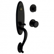 Baldwin<br />85380.190 - BUCKINGHAM HANDLESET TRIM - SATIN BLACK