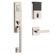 Baldwin<br />85387 BRFD - Evolved Soho 3/4 Escutcheon Full Dummy Set with Interior Lever - Right Hand