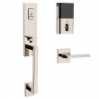 Baldwin<br />85391 BRFD - Evolved Minneapolis 3/4 Escutcheon Full Dummy Set with Interior Lever - Right Hand