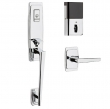 Baldwin<br />85396 BLFD - Evolved Palm Springs 3/4 Escutcheon Full Dummy Set with Interior Lever - Left Hand