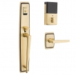 Baldwin<br />85397 BLFD - Evolved Palm Springs Full Escutcheon Dummy Set with Interior Lever - Left Hand
