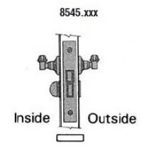Baldwin 8545 Baldwin SMALL CASE LEVER X LEVER INTERIOR