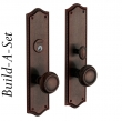 Baldwin<br />BUILD-A-SET ESCUTCHEON SETS  - BRISTOL / BARCLAY - STANDARD FINISH