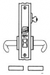 Baldwin<br />G6360 - CLASSROOM, ENTRANCE, OR OFFICE MORTISE LOCK - ANSI F04 - 2 1/2&quot; BACKSET